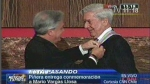 Vargas Llosa fue condecorado en Chile 
