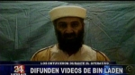 Difunden videos de Osama bin Laden