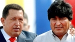 Evo Morales visitar a Hugo Chvez