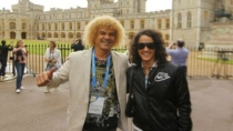 Kina se tom fotito con el Pibe Valderrama