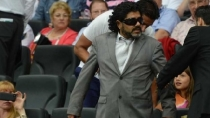 Un falso Maradona enga a todos en el Argentina-Alemania