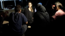 Angelina Jolie visit a los refugiados sirios