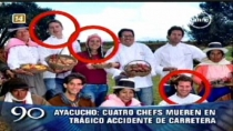 Cuatro chefs murieron en accidente de carretera