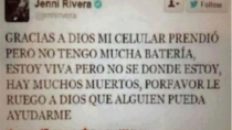 Publican falso 'tuit' de Jenni Rivera