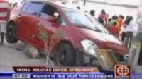 Policías ebrios causan accidente en Tacna