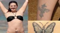 Drew Barrymore se quita los tatuajes por su religin
