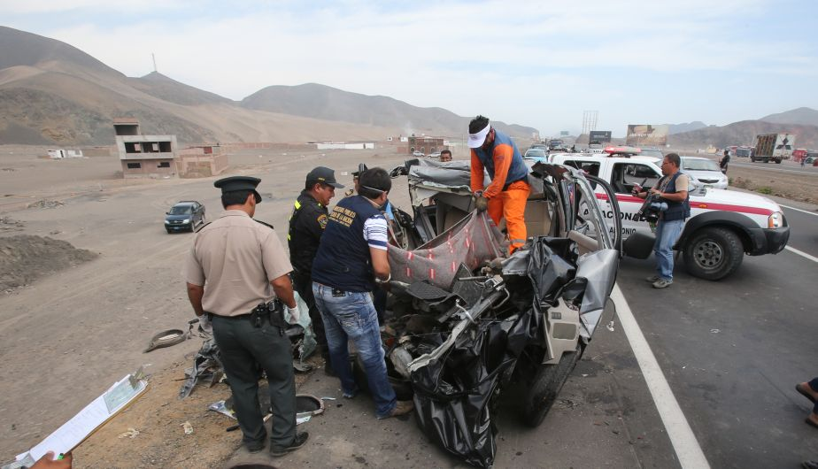 muerte, panamericana sur, accidente de transito