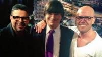 Jaime Bayly, Gianmarco y Luis Enrique posaron juntos