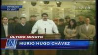 Maduro llor al anunciar muerte de Hugo Chvez