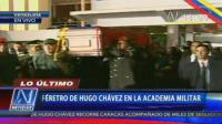 Atad de Hugo Chvez lleg a Academia Militar 