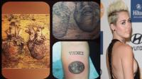 Miley Cyrus se tatu imagen de Leonardo da Vinci