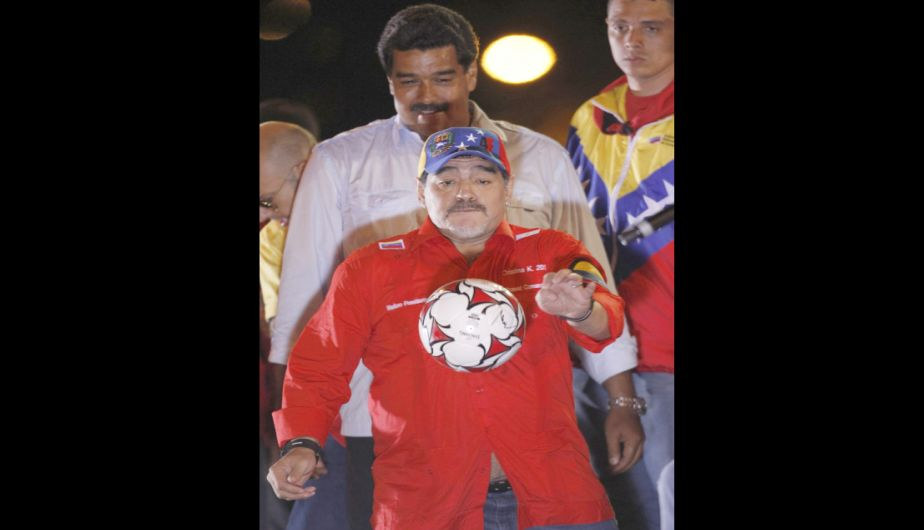 venezuela, mitin, ex jugador argentino, elecciones en venezuela 2013, cierre de campa
