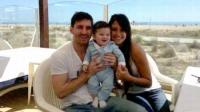 Lionel Messi de paseo con su novia y su hijo