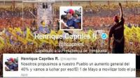 Capriles convoca marcha contra Nicols Maduro