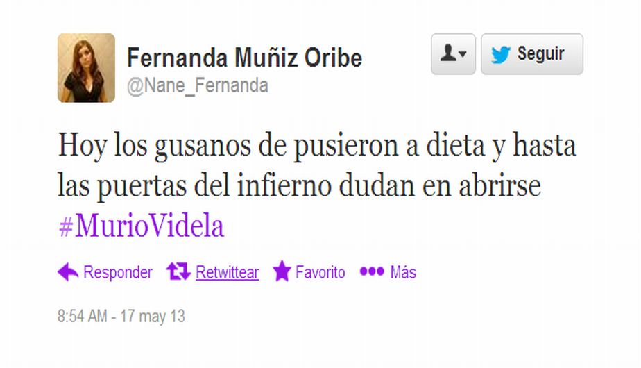 argentina, twitter, jorge rafael videla