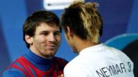 Lionel Messi ech flores a Neymar 
