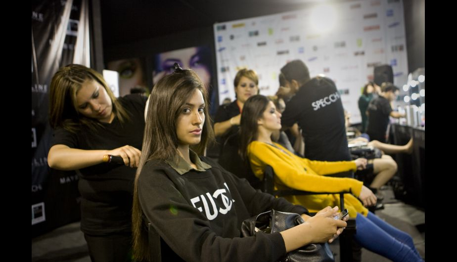 backstage, modelos, maquillaje, peinados, lif week 2013, lima fashion week, lima fashion week 2013