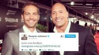 "Dwayne Johnson a ‏Paul Walker: ""Te quiero, hermano"""