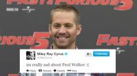 "Miley Cyrus: ""Estoy realmente triste por Paul Walker"""