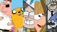 family guy, dibujos animados, adventure time, gravity falls, phineas, ferb, regular show