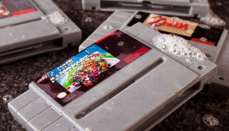 super nintendo, cartuchos, jabon, game boy, imitaciones de cartuchos
